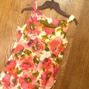 Pink Floral dress from Anthropologie